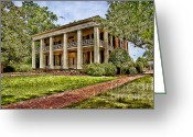Landscape Framed Print Greeting Cards - Arlington House Greeting Card by Lianne Schneider