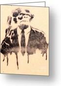 Planet Of The Apes Greeting Cards - Armed and Suited Greeting Card by Unknown