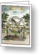 Armillary Greeting Cards - Armillary Sphere, 17th Century Artwork Greeting Card by Detlev Van Ravenswaay