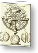 Armillary Greeting Cards - Armillary Sphere, 18th Century Artwork Greeting Card by Detlev Van Ravenswaay