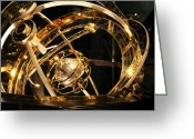 Armillary Greeting Cards - Armillary Sphere Greeting Card by Detlev Van Ravenswaay