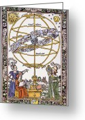 Ptolemaic Greeting Cards - Armillary Sphere Greeting Card by Granger