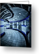 Underground Greeting Cards - Around The Bend Greeting Card by Evelina Kremsdorf