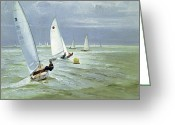 Signature Greeting Cards - Around the Buoy Greeting Card by Timothy Easton