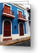 Arquitectura Greeting Cards - Arquitectura en San Juan Greeting Card by John Rizzuto