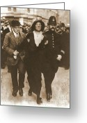 Elections Greeting Cards - Arrest of a Suffragette Greeting Card by Padre Art