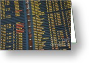 Accurate Greeting Cards - Arrival board at Paris Charles de Gaulle International Airport Greeting Card by Sami Sarkis