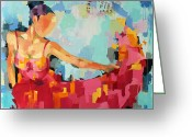 Brushstroke Greeting Cards - Arrival Greeting Card by Julia Pappas