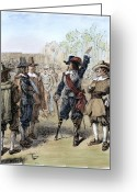 Amputee Greeting Cards - Arrival Of Stuyvesant, 1647 Greeting Card by Granger