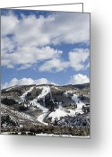 "\""colorado Resort\\\"" Greeting Cards - Arrowhead Mountain at Beaver Creek Resort - Colorado Greeting Card by Brendan Reals"