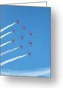 Raf Greeting Cards - Arrows round the bend Greeting Card by Paul Cowan