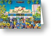 Stadium Greeting Cards - Arroyo Psychos Greeting Card by Frank Strasser