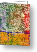 Woman Tapestries - Textiles Greeting Cards - ART   Always Remember Truth Greeting Card by Angela L Walker