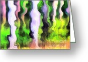 Scroll-work Greeting Cards - Art abstract work Greeting Card by Odon Czintos