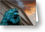 Sunset Photography Greeting Cards - Art and Lions Greeting Card by Anthony Citro