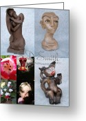 Sculptors Greeting Cards - Art collage by SD Smith Greeting Card by Sandi Floyd