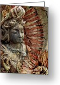 Zen Art Greeting Cards - Art of Memory Greeting Card by Christopher Beikmann