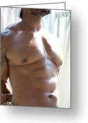 Nudes Males Greeting Cards - Art of Muscle Holiday Muscle Greeting Card by Jake Hartz