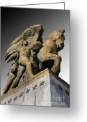 Arlington Memorial Bridge Greeting Cards - Art of Peace Greeting Card by Jost Houk