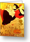 Toulouse-lautrec Greeting Cards - Art Poster Greeting Card by Pg Reproductions