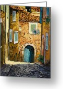 Sunny Painting Greeting Cards - Arta-Mallorca Greeting Card by Guido Borelli