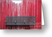 Urbano Greeting Cards - Artful Bench Greeting Card by adSpice Studios