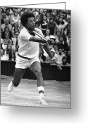 Athlete Greeting Cards - Arthur Ashe (1943-1993) Greeting Card by Granger