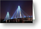 Photographers Ellipse Greeting Cards - Arthur Ravenel Bridge Greeting Card by Corky Willis Atlanta Photography