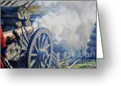 Computer Art And Digital Art Greeting Cards - Artillery in the fort Greeting Card by Joseph Ciferno Jr