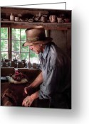 Clay Greeting Cards - Artist - Potter - The Potter III Greeting Card by Mike Savad