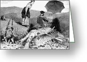 Winslow Homer Greeting Cards - Artist In The Countryside Greeting Card by Granger