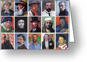Reproductions Greeting Cards - Artist Portraits Mosaic Greeting Card by Tom Roderick