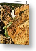 Yellowstone Landscape Art Greeting Cards - Artist View Greeting Card by Greg Norrell