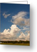 Landscape Photographs Greeting Cards - Artists Clouds Greeting Card by Toni Hopper