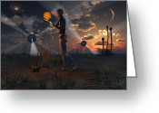 Exploration Digital Art Greeting Cards - Artists Concept Of A Quest To Find New Greeting Card by Mark Stevenson