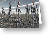 Science Fiction Digital Art Greeting Cards - Artists Concept Of An Abundance Greeting Card by Mark Stevenson