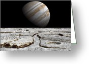 Ice Floes Greeting Cards - Artists Concept Of Jupiter As Seen Greeting Card by Walter Myers