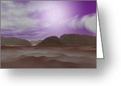 Astronomical Digital Art Greeting Cards - Artists Concept Of The Atmosphere Greeting Card by Walter Myers