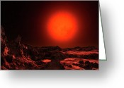 Red Dwarfs Greeting Cards - Artists Concept Of The Dim Red Dwarf Greeting Card by Andrew Taylor