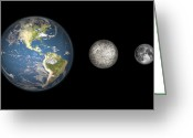 Scale Digital Art Greeting Cards - Artists Concept Of The Earth, Mercury Greeting Card by Walter Myers