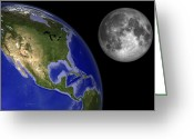 Scale Digital Art Greeting Cards - Artists Concept Of The Earth Greeting Card by Walter Myers
