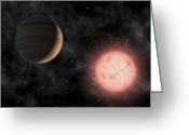 Red Dwarfs Greeting Cards - Artists Concept Of The Smallest Star Greeting Card by Stocktrek Images