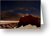 Astronaut Digital Art Greeting Cards - Artists Depiction Of A Lone Astronaut Greeting Card by Frank Hettick