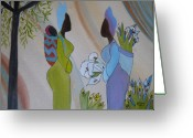 Gossiping Greeting Cards - Arum Theatre Greeting Card by Elizabeth Ribet