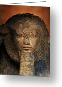 Aristocracy And Royalty Greeting Cards - As A Sphinx, Hatshepsut Displays Greeting Card by Kenneth Garrett