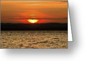 Point Park Greeting Cards - As the Sun Sets Greeting Card by Alexander Mendoza