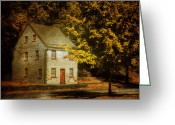Red Door Greeting Cards - As The World Passes By Greeting Card by Lois Bryan