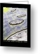 Clocks Greeting Cards - As Time Goes By Greeting Card by Mike McGlothlen