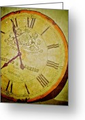 Clock Hands Greeting Cards - As Time Goes By Greeting Card by Odd Jeppesen