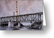 Pen And Ink Drawing Drawings Greeting Cards - Asarco in Pen and Ink Greeting Card by Candy Mayer